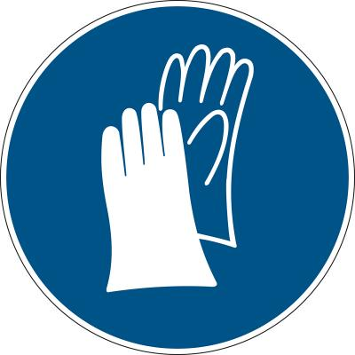 Schutzhandschuhe benutzen